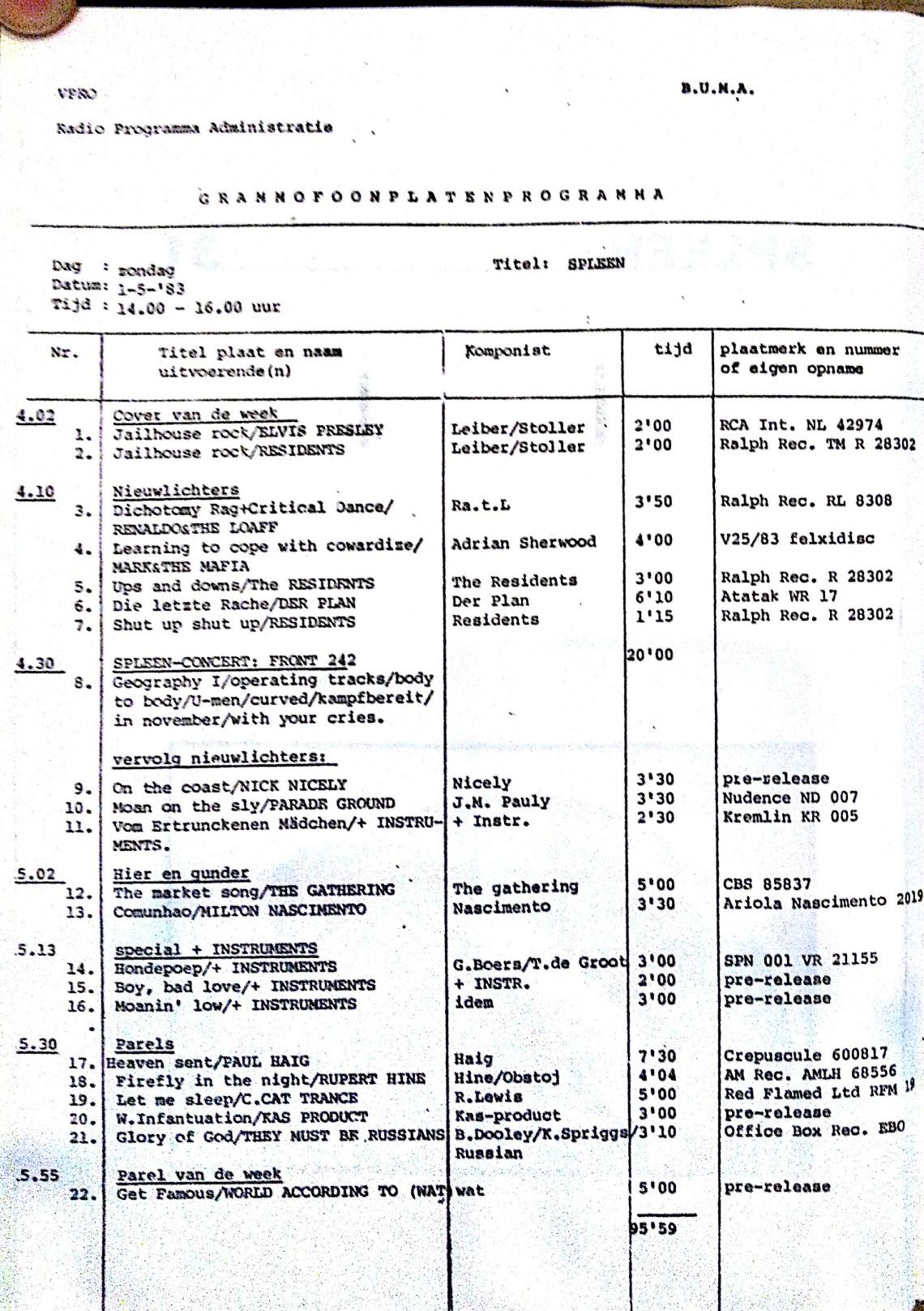 SPLEEN 1 Maart 1983