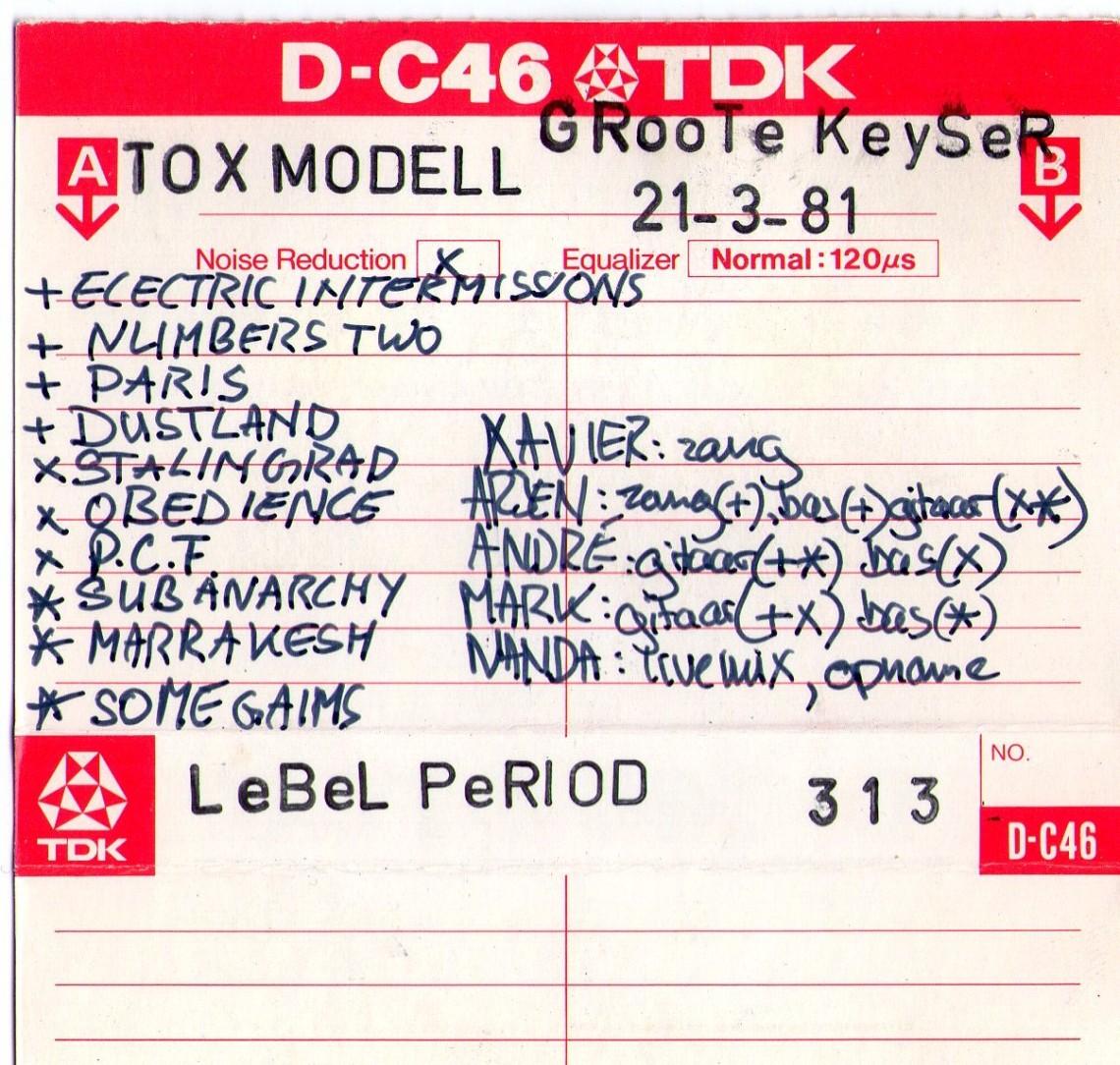 Tracklist Insert